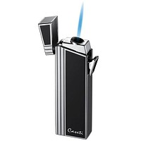 Caseti Black Lacquer Double Designed Compact Torch Flame Lighter