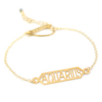 Zodiac Bar Chain Bracelet