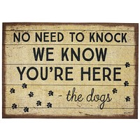 """No Need To Knock - The Dogs Rug 