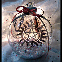 Limited Edition Supernatural themed jumbo glass ornament