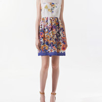 COMBINED CREPE DRESS WITH FLOWERS - Dresses - Woman - ZARA United States