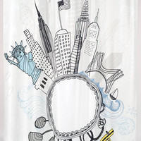 """""""Empire State"""" Shower Curtain, 70"""" x 72"""""""