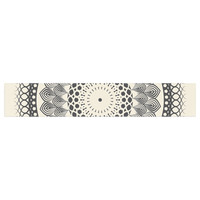"Famenxt ""Black & White Boho Mandala"" Geometric Table Runner"