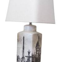 Michael Anthony Furniture Vanguard Series Parisian Scenery Rectangular Table Lamp
