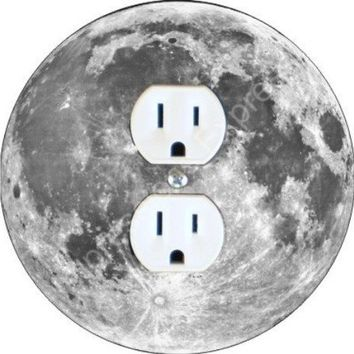 Moon Space Duplex Outlet Plate Cover