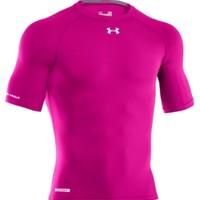 Under Armour Men's Power In Pink HeatGear Sonic Half Sleeve Compression Shirt - Dick's Sporting Goods