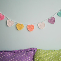 Conversation Heart Be Mine Bunting Garland