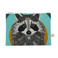 "Art Love Passion ""Racoon in Grass"" Gray Teal Everything Bag"