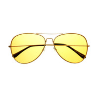 Classic Unisex Mens Womens Metal Aviator Sunglasses Gold Frames A1920