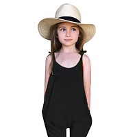 Girls Kids Baby Girls Overalls Backless Casual Romper Jumpsuit Sleeveless Trousers Clothes Overalls For Children
