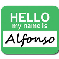 Alfonso Hello My Name Is Mouse Pad
