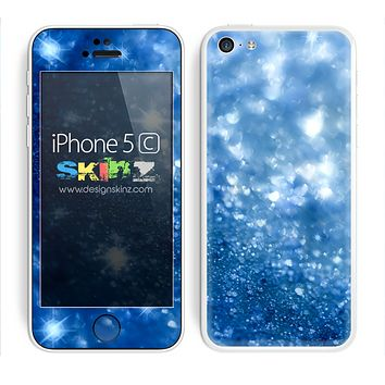 Blue Unfocused Sparkled Print Skin For The iPhone 5c