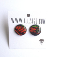 Pulse A Tribe Called Quest  Upcycled Vinyl Record Stud by ILLZ360