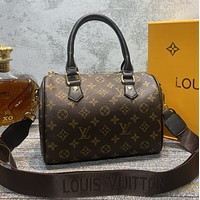 LV Louis Vuitton Women Leather Tote Satchel Shoulder Bag Handbag