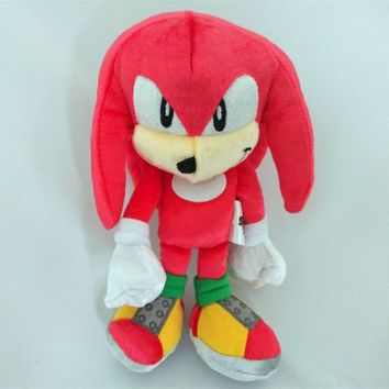 High quality 22cm  the Hedgehog Plush Doll Toys Soft red Sonic Stuffed Animals Characters Kids Toys