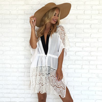 Life Is Good Crochet Cover Up