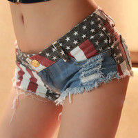 Denim Shorts  Summer Style Women Jeans Shorts Low Waisted Skinny Ripped Hot Sexy Shorts Plus Size Short Jeans