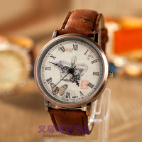 Designer's Good Price Trendy New Arrival Gift Great Deal Awesome Vintage Leaf Butterfly Crown Quartz Stylish Watch [4933059076]