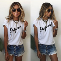 New Fashion Women Summer Vest Short Sleeve Blouse Casual Tank Tops T-Shirt