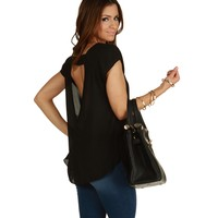 Black Sure Thing Chiffon Blouse