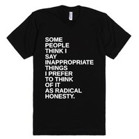 Radical Honesty-Unisex Black T-Shirt