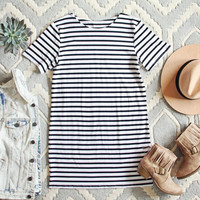 Sweet & Basic Stripe Dress