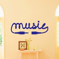 Vinyl Wall Decals Audio Music Сord Sign Decal Quote Sticker Home Wall Decor Art Mural Z734