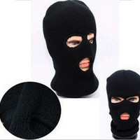 Full Face Ski Mask Army Three 3 Holes SWAT Balaclava Knitted Hat Snow Warm Beanie Stretch Cover Honorable Person CS Caps