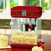Waring Pro WPM25 Professional Popcorn Maker, Red