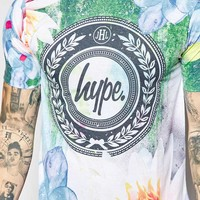 Hype T-Shirt With Watercolour Floral Print