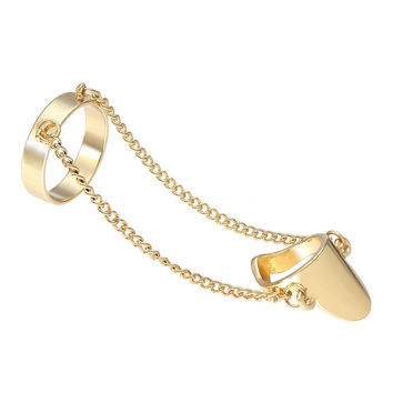 Gold Linked Double Rings