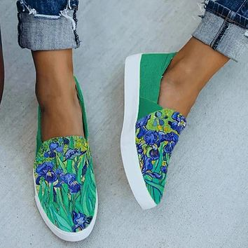 New fashion and comfortable flat-bottomed casual single shoes women shoes