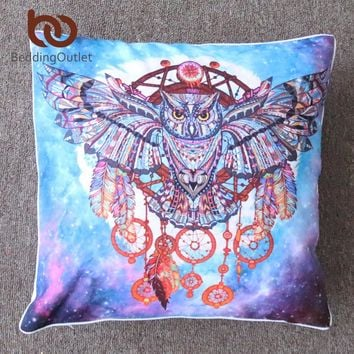 BeddingOutlet Dream Catcher with Feathers Cushion Cover Watercolor Bohemia Pillow Cover Boho Pillowcase No Fade Super Soft 2Size