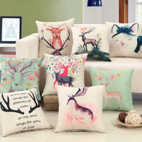 Modern Creative deer printing 45x45cm Home/Office/Sofa/Bed Decorative Cushion/Throw Pillow(Not Contain Filling)