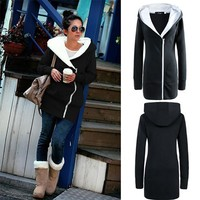 Thicken Hats Hoodies Zippers Hot Sale Ladies Jacket [9052433228]