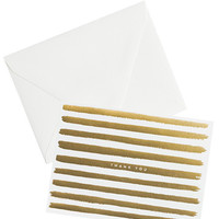 Gold Stripes Thank You Card Set