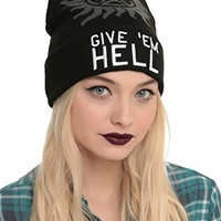Supernatural Give 'Em Hell Watchman Beanie