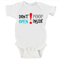 Don't Open Poop Inside Walking Dead Gerber Onesuit ®