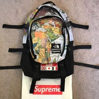 THE NORTHFACE / SUPREME EXPEDITION MEDIUM DAY BACKPACK MAP PRINT
