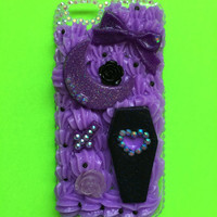 Decoden Kawaii Gothic Half Moon & Coffin Whip Phone Case for iPhone 6