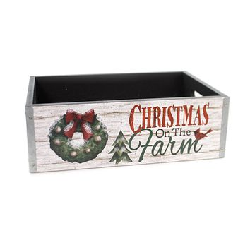 Christmas COUNTRYSIDE MESSAGE PLANTER Wood Message 9733589S