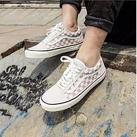 Vans Old Skool White Low Top Men Flats Shoes Canvas Sneakers Women Sport Shoes