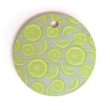Lisa Argyropoulos Simply Lime Blue Cutting Board Round
