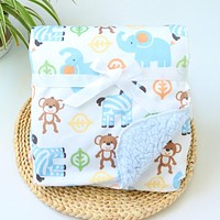 Baby Blanket New Thicken Double Layer Coral Fleece Infant Swaddle Envelope Stroller Wrap For Newborn Baby Bedding Blankets