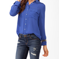 Double Pocket Button Up
