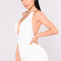 The Hamptons Embroidered Romper - White