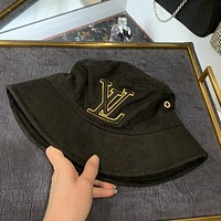 LV 2020 new jacquard letter embroidered logo fisherman hat