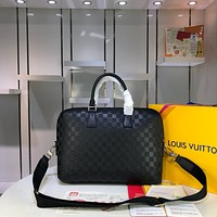 LV Louis Vuitton MEN'S Damier Infini Leather BRIEFCASE CROSS BODY BAG