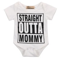 2016 new baby romper letters printed romper newborn baby boy and girl romper cute baby clothes summer clothes