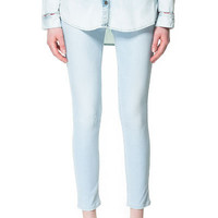 SUPER - SKINNY BLEACHED JEANS - Jeans - Woman | ZARA United States